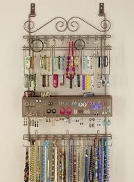 wall necklace holder into the glass make a mounted jewelry within hanging