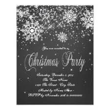 Pretty rustic black and white chalk snowflake chalkboard Christmas party  invitation. This simple elegant black