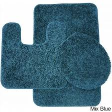 best bathroom rug sets bed bath and beyond for your bathroom decor mix blue 3 piece
