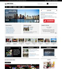 Newspaper Html Template News Portal Joomla Template And Advertising Joomla Monster