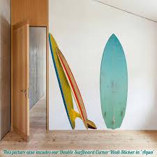 single surfboard wall sticker