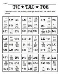 Fractions Decimals And Percents | And Worksheets To Go With The Book ...
