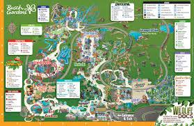 park map busch gardens tampa bay