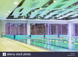 lap pool with marked lanes empty swimming pool without people with quiet standing water