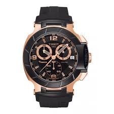 mens tissot watches fraser hart jewellers official stockists tissot t race men s chronograph rose gold plated and pvd strap watch