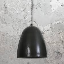 black hammered pendant light