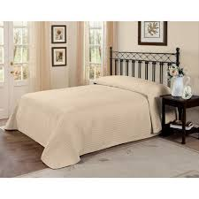 american traditions french tile quilted cream queen bedspread
