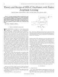 Ota Circuit Design Pdf Theory And Design Of Ota C Oscillators With Native