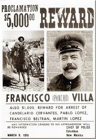 pancho villa.  Villa Pancho Villa Wanted Poster In