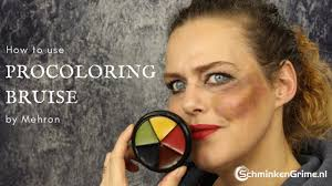 how to use the mehron procoloring bruise
