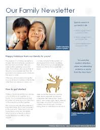 family newsletter family christmas newsletter
