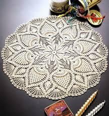 Crochet Chart Doily Pattern Diagram