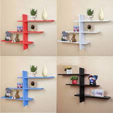 heavy duty t shape floating wall mount shelves book dvd storage