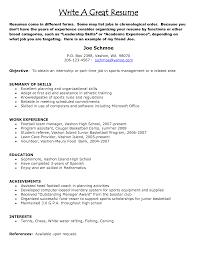 Astonishing Resume For Job Examples Of Resumes