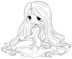 Chibi Anime Coloring Pages Girl Coloring Pages Free Printable Anime
