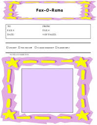 Kids Fun Fax Cover Sheet At Freefaxcoversheets Net