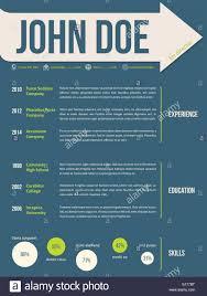 Modern Resume Cv Curriculum Vitae Template Design With Name On