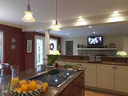 kitchen half wall kitchen traditional with granite countertops burner cooktops