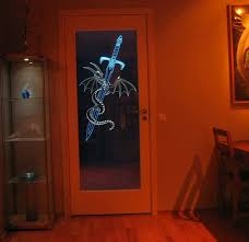 modern etched glass door panels ideas for home library
