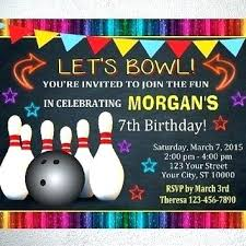 Bowling Invitation Amazing Bowling Birthday Invitations Alley Kids Red Blue Party Siteriapro