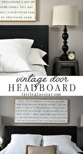See how I used an old vintage door as a headboard for our guest bedroom.