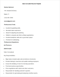Sales Consultant Resume Sample Consultant Resume As Pre Sales ...