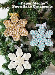 paper mache snowflake ornaments