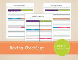 Moving Checklist Spreadsheet Relocation 171039640084 Business