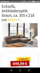 Ecksofa Couch Wohnlandschaft Braun Neu
