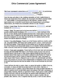 Printable Lease Agreement Ohio Printable Lease Agreement Template ...