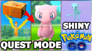 SHINY MEW IN POKEMON GO? QUEST MODE ANYTIME NOW & LEGENDARY POKEMON PRIZE -  YouTube