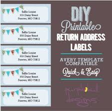 Free Return Address Labels Template