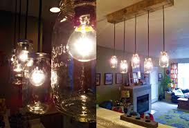 mason jar rustic pallet light fixture