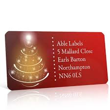 Christmas Tree Labels Christmas A4 Sheet Labels Christmas Tree