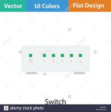 Ethernet Switch Design Ethernet Switch Icon Flat Color Design Vector Illustration
