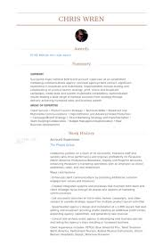Account Supervisor Resume samples
