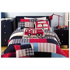 Thomas Firetruck Patchwork 3-piece Quilt Set - Free Shipping Today ... & Thomas Firetruck Patchwork 3-piece Quilt Set Adamdwight.com