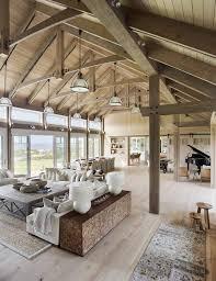 Vaulted Ceiling Living Room Design Barn House Vaulted Ceilings Living Room A Beach Barn House On