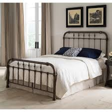 Vienna Iron Bed In Aged Gold Humble Abode Wrought Frames Queen Size ...