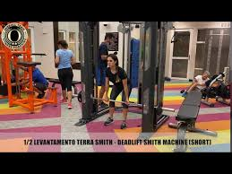 1/2 LEVANTAMENTO TERRA SMITH - DEADLIFT SMITH MACHINE (SHORT) - YouTube