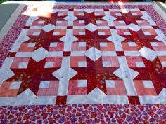 Using Bonnie Hunter's Boxy Stars pattern. Love this color way ... & Boxy Stars Adamdwight.com
