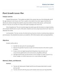 Plant Growth Lesson Plan
