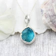 apatite natural gemstone handmade las silver pendant