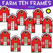 farm barn clip art. Farm Clip Art - Barn Ten Frames {jen Hart Art} F