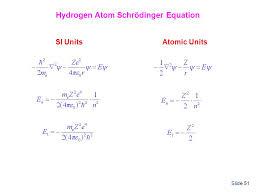 hydrogen atom schrödinger equation