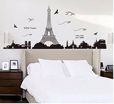 eiffel tower bathroom decor  ussore eiffel tower removable decor environmentally mural wall