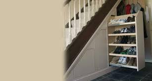 Clever Closets Under Stair Shoe Storage