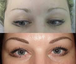 татуаж бровей фото до и после волосковый метод и растушевка