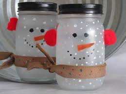 Crafts With Mason Jars Frosted The Mason Jar Snowman Crafts Pinterest Snowman And