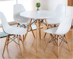 aspect como round dining table with beech wood legs wood white